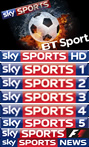 Sky Sports and BT Sports!