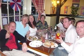 Royal Wedding Guests enjoying their meal