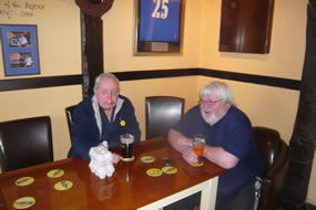 Happy Dave & Big Peter - both enjoying the occasion immensely!