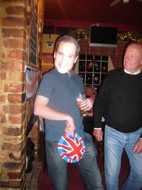 Prince William, the Duke of Cambridge celebrates with everyone!