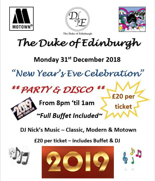 The Duke of Edinburgh New Years 2018 - 2019 invite