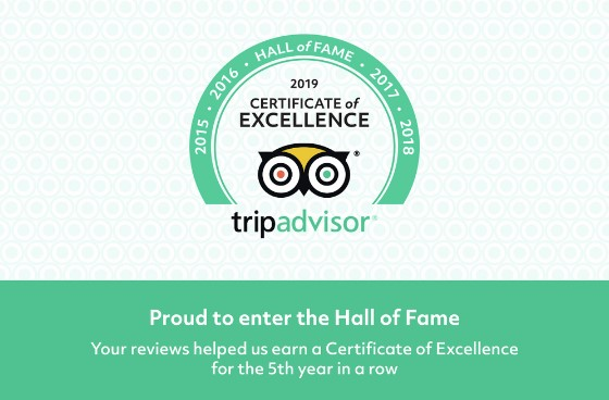 Certificate of Excellence - Hall of Fame