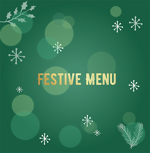 Festive menu heading
