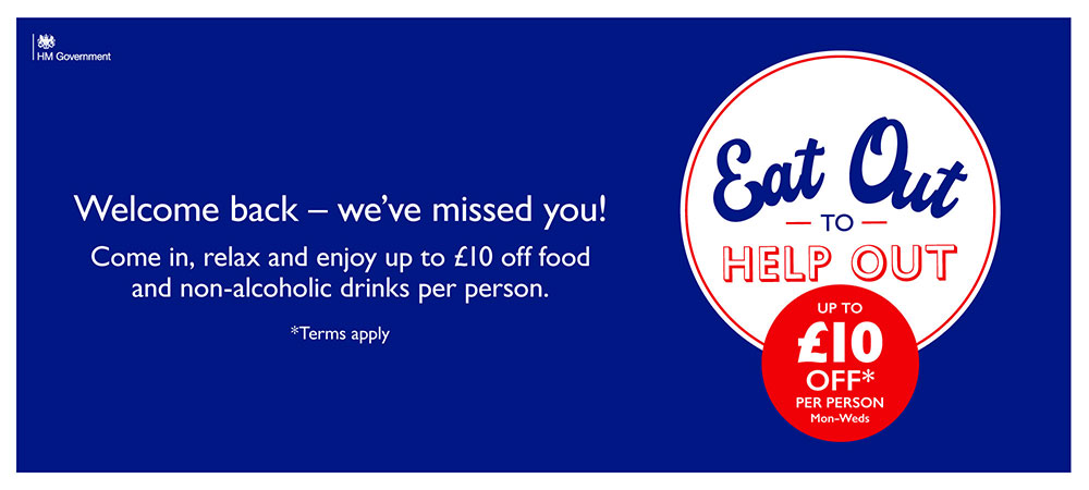 Eat out to Help out - up to £10 off